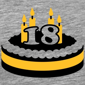 18 Happy Birthday Cake T-Shirts - Männer Premium T-Shirt