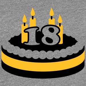 18 Happy Birthday Cake T-Shirts - Frauen Premium T-Shirt