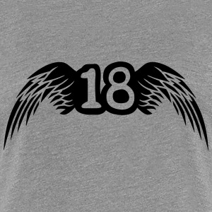 18 Wings Logo T-shirts - Vrouwen Premium T-shirt