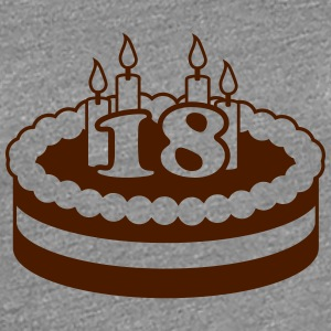 18 Happy Birthday Cake Camisetas - Camiseta premium mujer