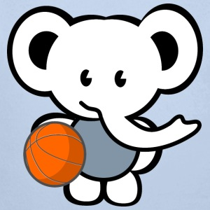 basketball elephant Pullover & Hoodies - Baby Bio-Langarm-Body
