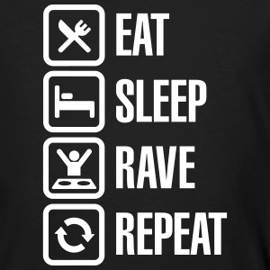 Eat sleep rave repeat T-Shirts - Men's Organic T-shirt