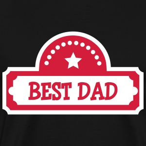 Best Dad T-skjorter - Premium T-skjorte for menn