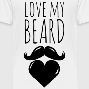 funny love my crazy hipster cool beard moustache Shirts - Kids' Premium T-Shirt