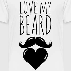 funny love my crazy hipster cool beard moustache Shirts - Teenage Premium T-Shirt