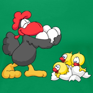 Rooster with Eggs and Chicks T-Shirts - Women's Premium T-Shirt
