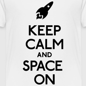 keep calm and space on houden van rust en ruimte op Shirts - Kinderen Premium T-shirt