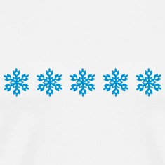 5 Stars Snowflake, Snowboard, Ski, Winter Sports   T-Shirts