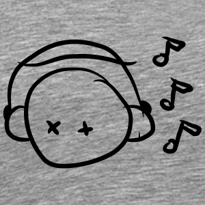Funny Cute Music Lover Smiley T-Shirts - Men's Premium T-Shirt