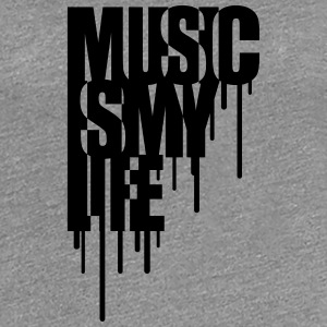 Music Is My Life Graffiti Design T-shirts - Premium-T-shirt dam