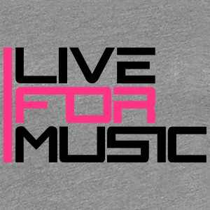 Live For Music Logo T-shirts - Dame premium T-shirt