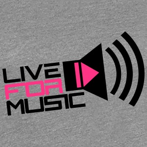 Live For Music Play Loud Symbol T-shirts - Dame premium T-shirt