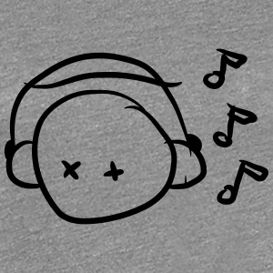 Funny Cute Music Lover Smiley T-Shirts - Women's Premium T-Shirt
