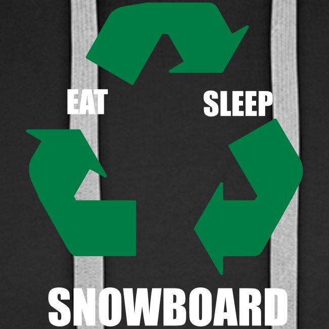 Eat, Sleep, Snowboard (Hoodie)