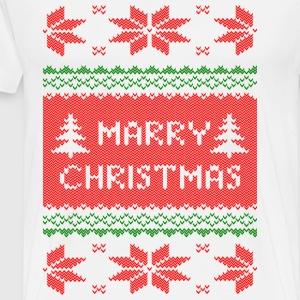 marry christmas strick T-Shirts - Männer Premium T-Shirt