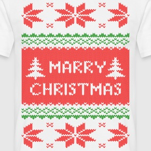marry christmas knit T-shirts - Mannen T-shirt