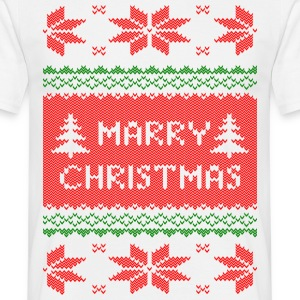 marry christmas strick T-Shirts - Männer T-Shirt