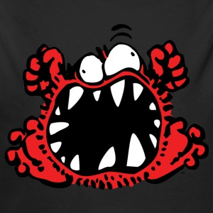 Angry Little Cartoon Monster by Cheerful Madness!! Hoodies - Longlseeve Baby Bodysuit