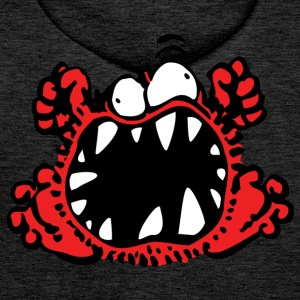 Petit Monstre en Colère by Cheerful Madness!! Sweat-shirts - Sweat-shirt à capuche Premium pour hommes