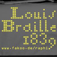 Motiv ~ Louis Braille 1839 - Tasche dunkel