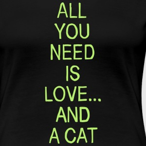 Love and a Cat T-Shirts - Frauen Premium T-Shirt