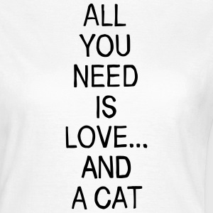 Love and a Cat T-Shirts - Frauen T-Shirt