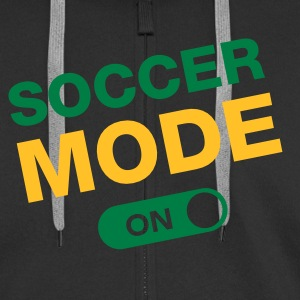 Soccer Mode (On) Hoodies & Sweatshirts - Men's Premium Hooded Jacket