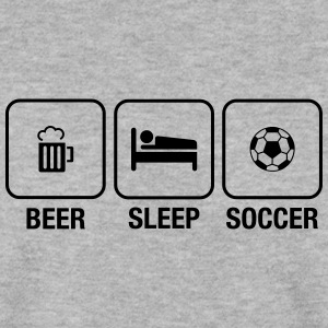 Beer, Sleep, Soccer Sweat-shirts - Sweat-shirt Homme