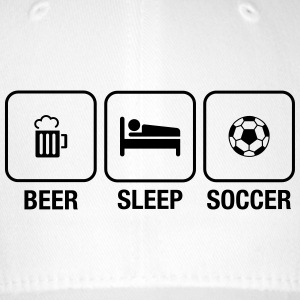 Beer, Sleep, Soccer Caps & Hats - Flexfit Baseball Cap