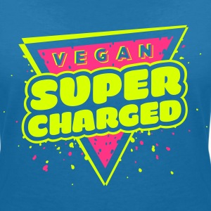The Hero: Vegan Super Charged T-shirt - Women's V-Neck T-Shirt