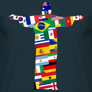 Brazilië 2014 Rio Jezus Naties  T-shirts - Mannen T-shirt