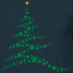 Christmas tree made ​​of stars  T-Shirts - Men's T-Shirt