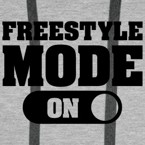 Freestyle Mode (On) Sweaters - Mannen Premium hoodie