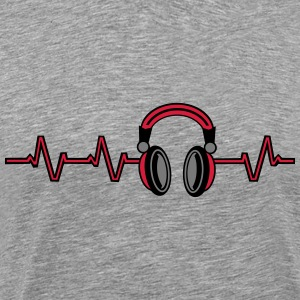 Heart Beat Headphones T-shirts - Premium-T-shirt herr