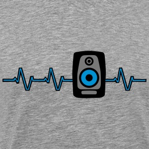 Heart Beat Soundbox T-shirts - Mannen Premium T-shirt
