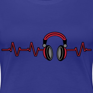 Heart Beat Headphones T-shirts - Vrouwen Premium T-shirt