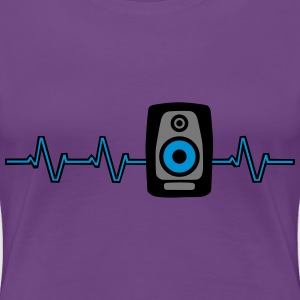 Heart Beat Soundbox T-shirts - Dame premium T-shirt