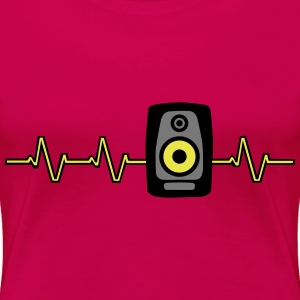 Heart Beat Soundbox T-shirts - Premium-T-shirt dam