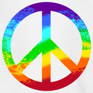 Kinder T-Shirt Peace Peacezeichen Used Look - Kinder T-Shirt