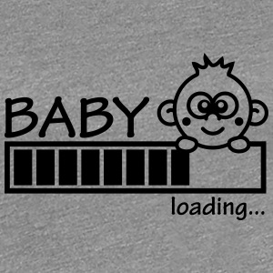 Baby Is Loading Girl T-shirts - Dame premium T-shirt