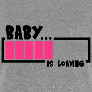 Baby Is Loading Design T-shirts - Dame premium T-shirt