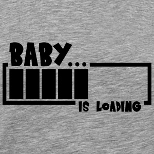 Baby Girl Loading Bar T-skjorter - Premium T-skjorte for menn