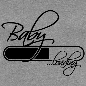 Baby Loading Girl T-Shirts - Women's Premium T-Shirt