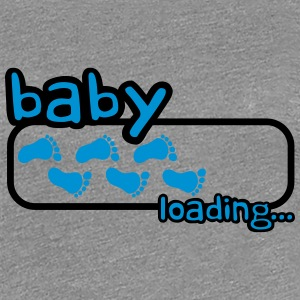 Baby Boy Loading Footprints Logo T-Shirts - Women's Premium T-Shirt