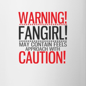 warning! fangirl! Bottles & Mugs - Contrasting Mug