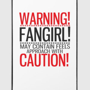 warning! fangirl! Phone & Tablet Cases - iPhone 4/4s Hard Case