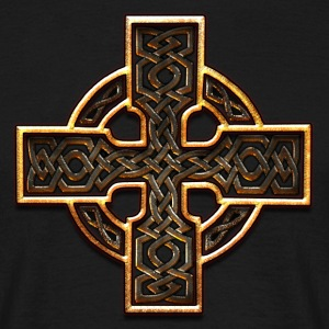Old Gold Celtic Cross Twisted.png Tee shirts - T-shirt Homme