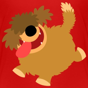 Big Hairy Cartoon Dog by Cheerful Madness!! Shirts - Kids' Premium T-Shirt