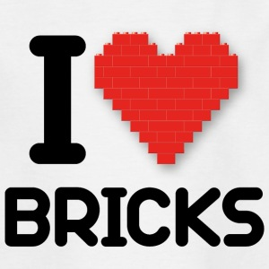 I love Bricks (dd print)  - Kinder T-Shirt