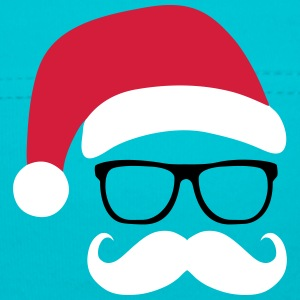 Funny Santa Claus with nerd glasses and mustache Accessori - Cappellino neonato